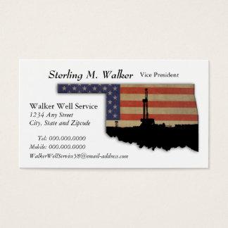 Tarjeta De Visita Aparejo patriótico de la perforación petrolífera