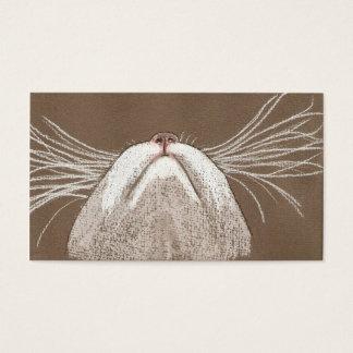 Tarjeta De Visita Apenas las barbas de los gatos