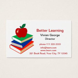 Tarjeta De Visita Apple, libros, educación