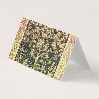 Tarjeta De Visita Árbol de William Morris del Pre-Raphaelite del