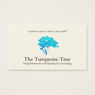 Tarjeta De Visita Árbol del zen de las azules turquesas
