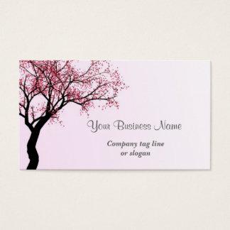 Tarjeta De Visita Árbol rosado del flor de la flor
