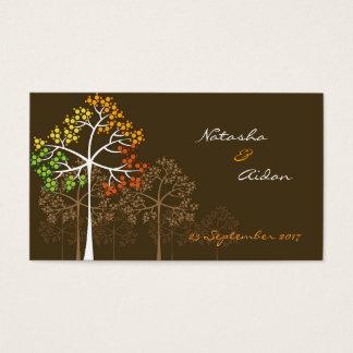 Tarjeta De Visita árboles del otoño del fatfatin que casan la