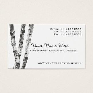 Tarjeta De Visita Arborista del paisaje de los árboles de abedul