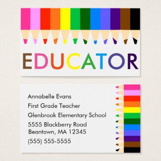 Tarjeta De Visita Arco iris del educador