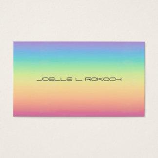 Tarjeta De Visita Arco iris en colores pastel Ombre