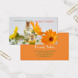 Tarjeta De Visita Aromatherapy del aceite esencial de la margarita