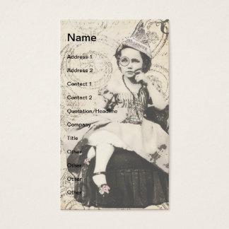 Tarjeta De Visita Arte de Digitaces del chica del gorra del