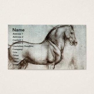 Tarjeta De Visita Arte del caballo del vintage