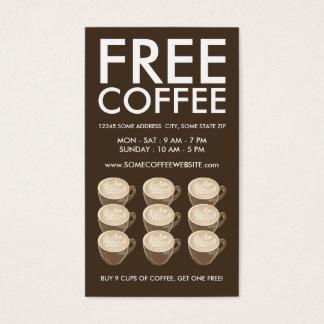 Tarjeta De Visita arte del corazón del café