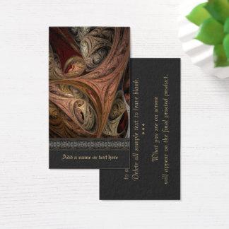 Tarjeta De Visita Arte del fractal de la torsión de la especia
