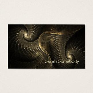 Tarjeta De Visita Arte del fractal del espiral del hilo de oro