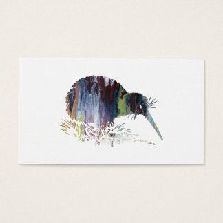 Tarjeta De Visita Arte del pájaro del kiwi