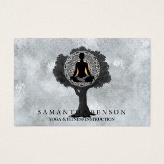 Tarjeta De Visita Arte moderno elegante del logotipo del árbol de la