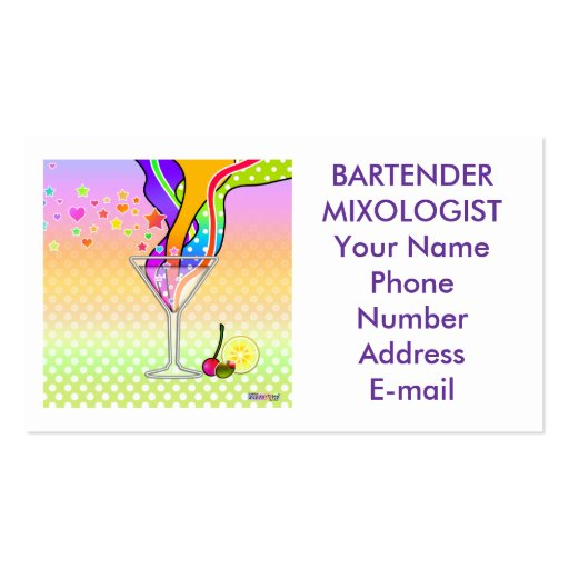 Tarjeta de visita - arte pop de Maxxed Martini