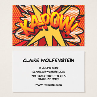 Tarjeta De Visita ¡Arte pop personalizado del cómic KA-POW!