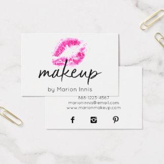 Tarjeta De Visita Artista de maquillaje del ★