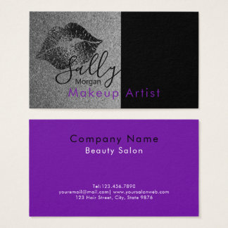 Tarjeta De Visita Artista de maquillaje - diseño del logotipo del