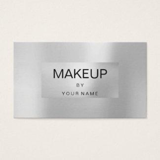 Tarjeta De Visita Artista de maquillaje enmarcado metálico de los