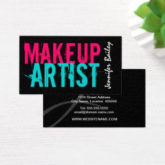 Tarjeta De Visita Artista de maquillaje intrépido