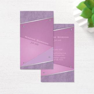 Tarjeta De Visita Artista de maquillaje púrpura y violeta