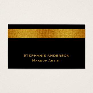 Tarjeta De Visita Artista de maquillaje rayado del oro negro