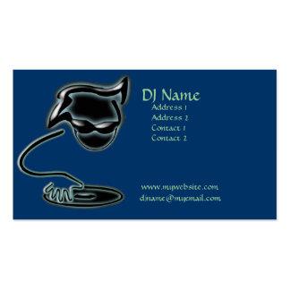 Tarjeta de visita artística de DJ
