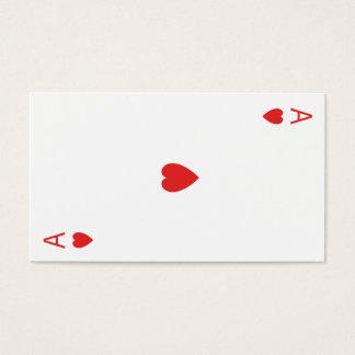Tarjeta De Visita As de corazones