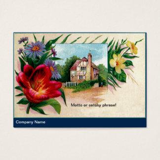 Tarjeta De Visita Asteres del vintage y casa de Tudor