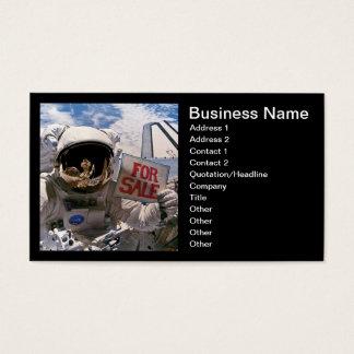 Tarjeta De Visita Astronauta de la NASA que lleva a cabo la muestra