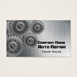 Tarjeta de visita automotriz del mecánico