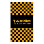 Tarjeta de visita automotriz del servicio del taxi