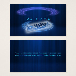 Tarjeta De Visita Azul de DJ