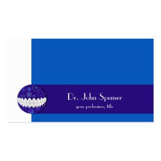 Tarjeta de visita azul de la burbuja del cuidado