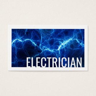 Tarjeta de visita azul de la descarga eléctrica
