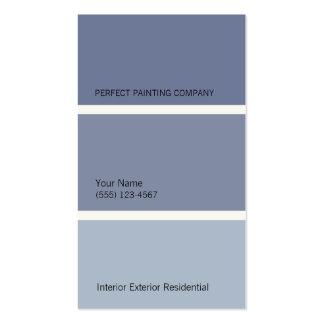 Tarjeta de visita azul de los pintores