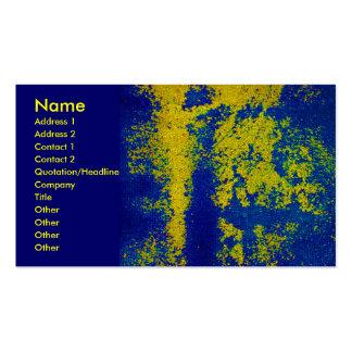 Tarjeta de visita azul del diseñador del oro