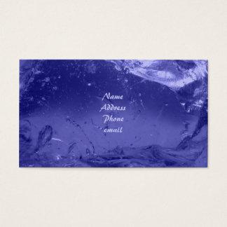 Tarjeta de visita azul del hielo