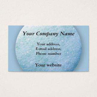Tarjeta De Visita Azul del punto 1260C de las burbujas de jabón
