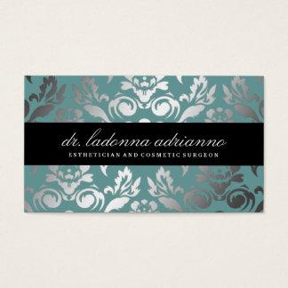 Tarjeta De Visita Azul del trullo del damasco de 311 Ladonna