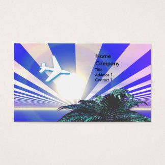Tarjeta De Visita Azul del viaje de la isla - negocio