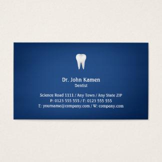 Tarjeta De Visita Azul dental elegante del |