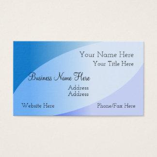 Tarjeta de visita azul elegante de las tonalidades