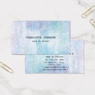 Tarjeta De Visita Azul en colores pastel de plata contemporáneo del