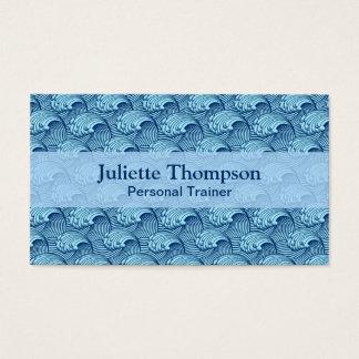 Tarjeta De Visita Azul japonés de las ondas, de la marina de guerra
