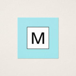 Tarjeta de visita azul moderna minimalista del