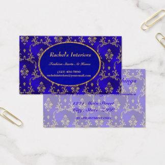 Tarjeta de visita--Azul y oro