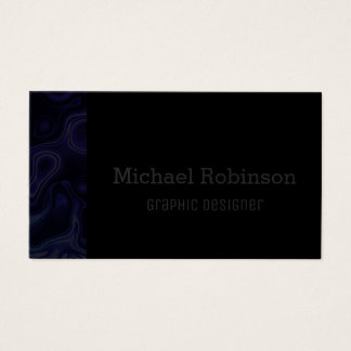 Tarjeta De Visita Azules añiles y negro abstractos