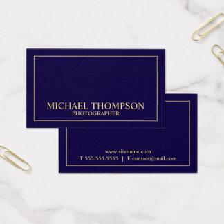 Tarjeta De Visita Azules marinos y oro elegantes profesionales
