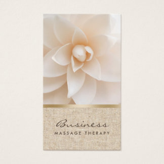 Tarjeta De Visita Balneario curativo con clase de la flor y de la